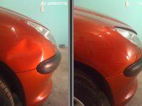 Удаление вмятин кузова без покраски